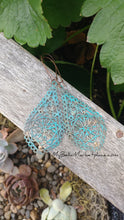 Turquoise Blue Patina Teardrop Filigree Earrings By MyBella