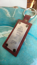 I'm Not A Pepper Spray Kind of Girl Custom Hand Stamped  Leather Luggage Tag or Key Chain by MyBella