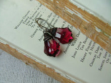 Last Pair - MyBella Crystal Drop Custom Wire Wrapped Hot Pink and Gunmetal Swarovski Crystal Drop Earrings by MyBella