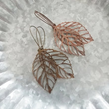 Forever Fall Filigree Ultra Light Leaf Earrings Your Choice Of Antique Brass or Antique Copper by MyBella