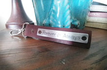 Forever & Always Custom Hand Stamped Leather Luggage Tag or Key Chain Your Custom Message With Optional Back Plate by MyBella
