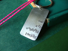 Custom Hand Stamped My Favorite Lyrics Keychain by MyBella