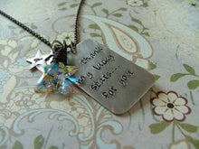 I Thank My Lucky Stars For You Custom Hand Stamped Keepsake Necklace with Copper Stars and Swarovski Crystal Star by MyBella