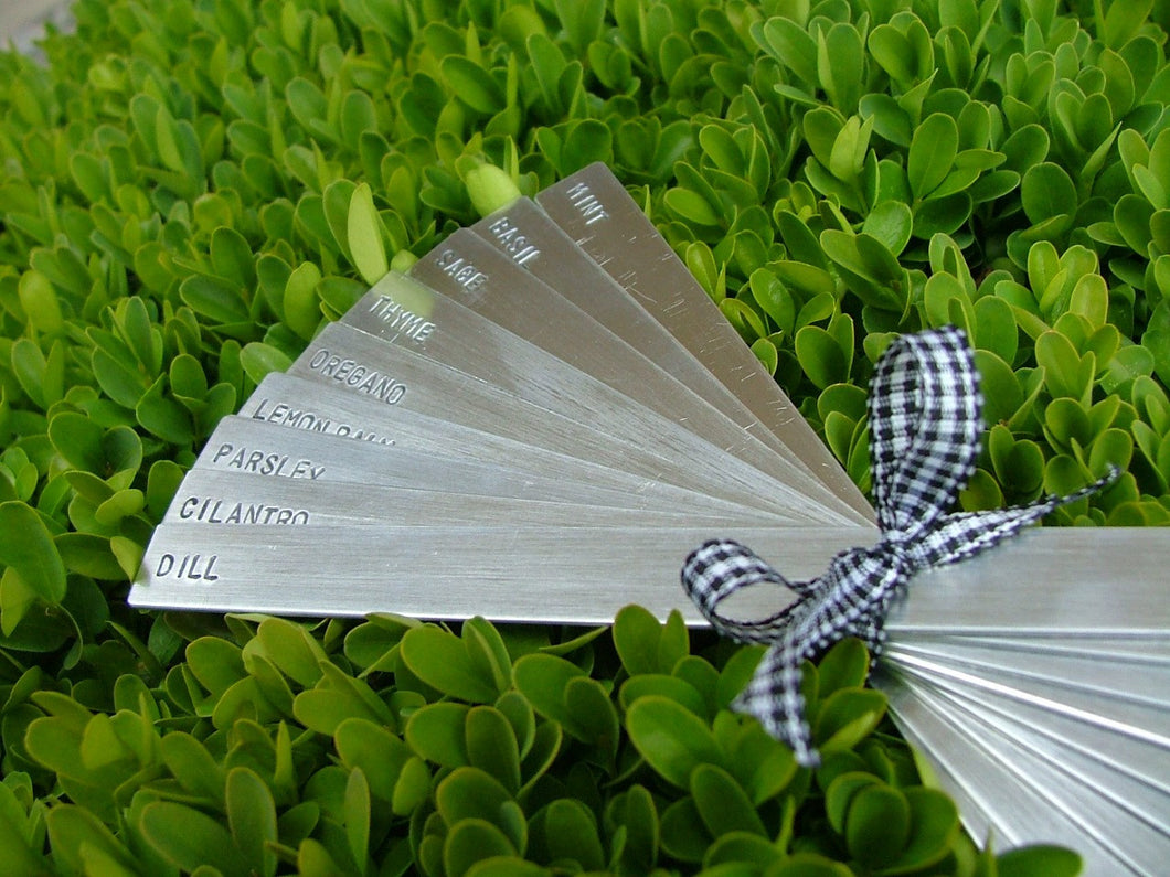 Custom Stamped Garden Markers Set of 24 by MyBella