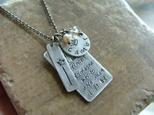 Not everyone can be the princess.  Someone has to wave when I go by. - Custom Hand Stamped Necklace by MyBella