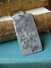 Dear God, Thank you for this beautiful life... - Custom hand stamped Key Chain by MyBella
