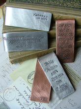 Established In Custom Hand Stamped Aluminum Money Clip - by MyBella