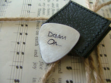 Dream On Custom Hand Cut Hand Stamped Guitar Pick by MyBella