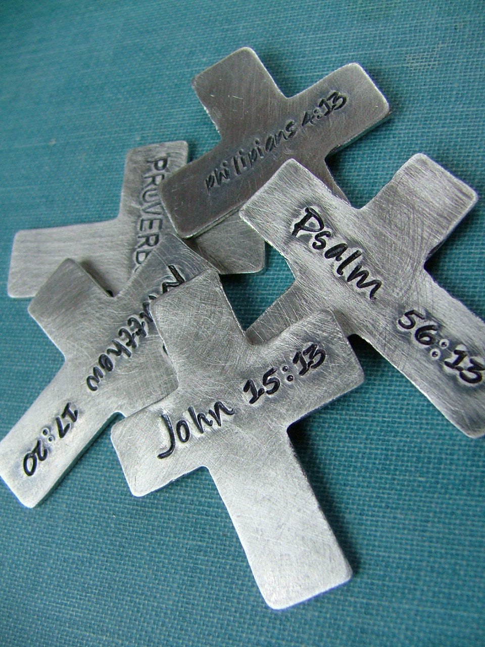 I Carry A Cross In My Pocket Custom Hand Stamped Pocket Cross - MyBella Carry Me Collection