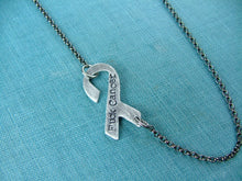 MATURE: F-Cancer Custom Hand Stamped Aluminum Survivor Necklace by MyBella