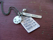 Some Heroes Wear A Cape But Mine Wears Boots Custom Hand Stamped Necklace by MyBella