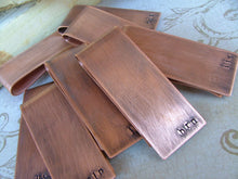 Groomsmen Gift Pack Set of 7 Custom Hand Stamped Copper Money Clips Bulk Order Savings Set  - by MyBella