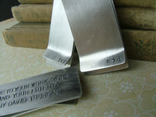 Groomsmen Gift Pack Set of 5 Custom Hand Stamped Aluminum Money Clips - by MyBella