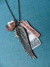 Swim Bike Run Iron Butterfly Wing Pendant Necklace by MyBella Limited Edition Item