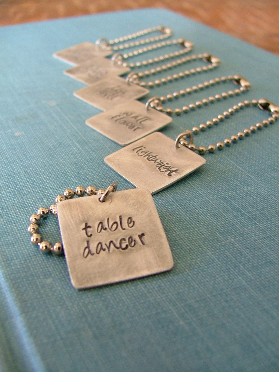 6 pc Set Party Animal Hand Stamped Wine Charms - by MyBella