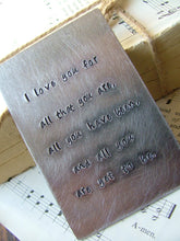 I Love You For All That You Are...Carry Me Card - MyBella Carry Me Collection