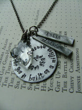 My love for you is built on a million moments we have shared Custom Hand Stamped Aluminum Teardrop Necklace by MyBella