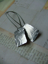 Hand Hammered Rectangle Aluminum Drop Earrings by MyBella