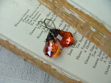 If It Ain't Baroque, Don't Fix It Custom Wire Wrapped Sweet Ginger and Gunmetal Swarovski Crystal Drop Earrings by MyBella