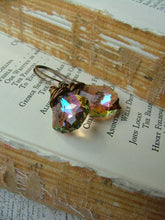 If It Ain't Baroque, Don't Fix It Custom Wire Wrapped Warm Fall And Copper Swarovski Crystal Drop Earrings by MyBella