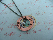 Custom Hand Stamped Mother's or Grandmother's Necklace - I've got them all right here with me - by MyBella