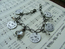 This Charming Heart Custom Hand Stamped Mother's/Grandmother's with Multiple Name Tags Bracelet by MyBella