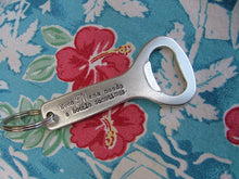 Even Mama Needs A Bottle Sometimes Custom Hand Stamped Aluminum Bottle Opener Key Chain by MyBella