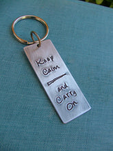 Keep Calm and Carry On Concealed Carry Custom Hand Stamped Heavy Aluminum or Copper Key Chains by MyBella