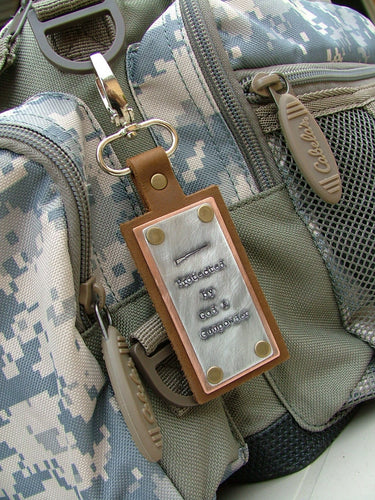 Protected by God & Gunpowder Custom Hand Stamped Shooting Range Ammo Accessory Range Bag Tag by MyBella