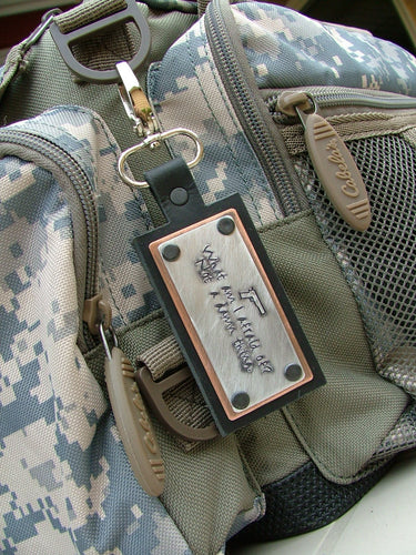 What Am I Afraid Of?  Not A Damn Thing Custom Hand Stamped Shooting Range Ammo Accessory Range Bag Tag by MyBella