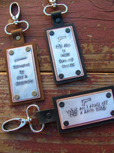 My Aim Is Better Than My Temper Custom Hand Stamped Shooting Range Ammo Accessory Shooting Bag Tag by MyBella