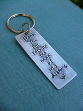 Thank You For Raising The Man Of My Dreams Custom Hand Stamped Heavy Aluminum Mother Of The Groom Key Chain by MyBella