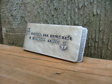 A Smooth Sea Never Made A Skillful Sailor Custom Hand Stamped Copper Money Clip with Initials - by MyBella