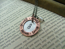 Grandma's Gifts Custom Hand Stamped Grandmother's Necklace with Freshwater Pearl and Washer by MyBella