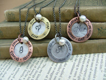 I Was Stronger Than My Cancer Custom Hand Stamped Celebration Necklace with Freshwater Pearl and Washer by MyBella