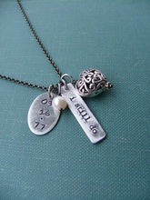I Still Do Custom Hand Stamped Wedding Anniversary Edition with Puffy Filigree Heart And Freshwater Pearl by MyBella