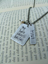 My Hero Wears Kevlar Custom Hand Stamped Aluminum Officers Wife Officers Mother Necklace by MyBella