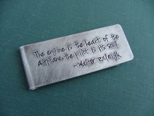 The Engine Is The Heart Of The Airplane, The Pilot Is Its Soul Custom Hand Stamped Aluminum Money Clip by MyBella