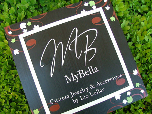 Add On Tags Custom Hand Stamped Aluminum Round, Square, Rectangle Tags & Font Selections by MyBella