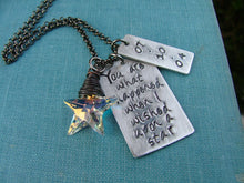 You Are What Happened When I Wished Upon A Star Custom Hand Stamped 10 Year Anniversary Necklace with Swarovski Crystal Star by MyBella