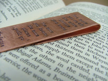 The More You Read Dr. Seuss Custom Hand Stamped Aluminum Fold-Over Bookmark by MyBella