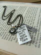 I Can't See You But I Know You're There Custom Hand Stamped Pendant Memorial Necklace by MyBella