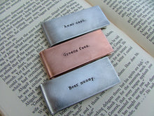 Greens Fees Custom Hand Stamped Golfer Money Clip with Golf Flag and Hole in Aluminum or Copper by MyBella