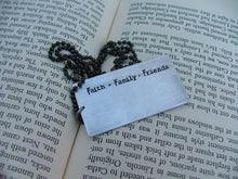 Faith Family Friends When You Lose Just About Everything You Have Custom Hand Stamped Tag Necklace by MyBella