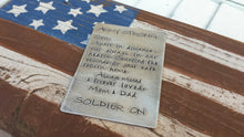 Army Strong Soldier On A Little Piece of Home American Soldier Wallet Card MyBella Carry Me Collection