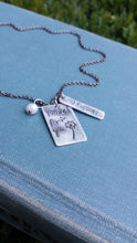 I Wished For You Custom Hand Stamped Dandelion Mommy Necklace with Freshwater Pearl by MyBella
