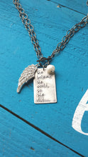 She Believed She Could, So She Did Wear It Two Ways Custom Hand Stamped Necklace With Rhinestone Wing and Freshwater Pearl by MyBella
