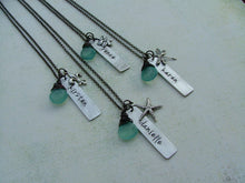 Bridal Party Necklaces for Bride, Flower Girl, Bridesmaids, & Mothers Custom Hand Stamped by MyBella