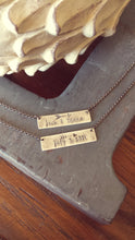 For The Love Of Us His & Hers Names Custom Hand Stamped Arrow Accent Wedding Anniversary Suspension Necklace  by MyBella