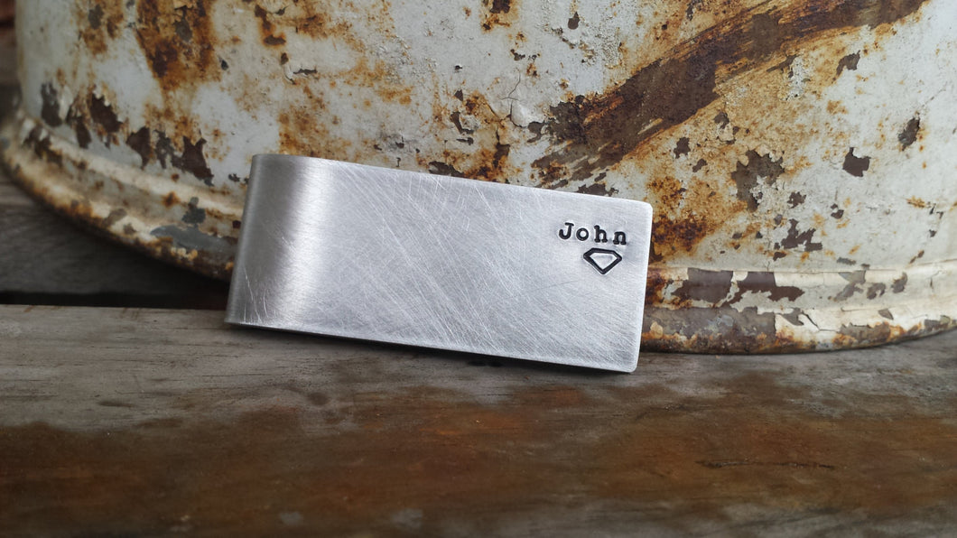 I Am Superman Custom Hand Stamped Aluminum or Copper Money Clip by MyBella